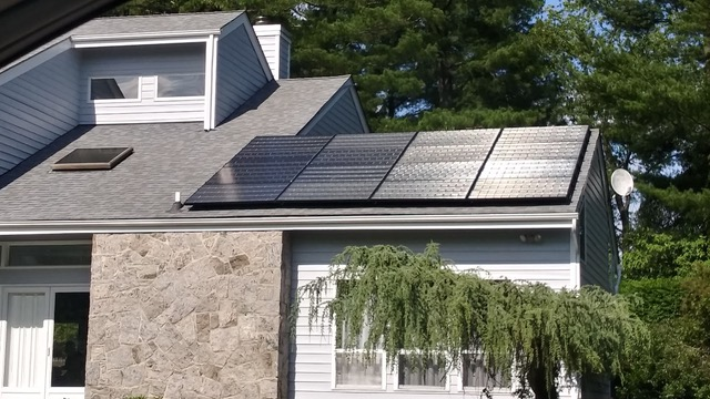 Sleek and discreet solar panels installed by Simply Residential.