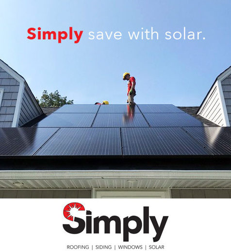 Solar roof install on Long Island by Simply Residential