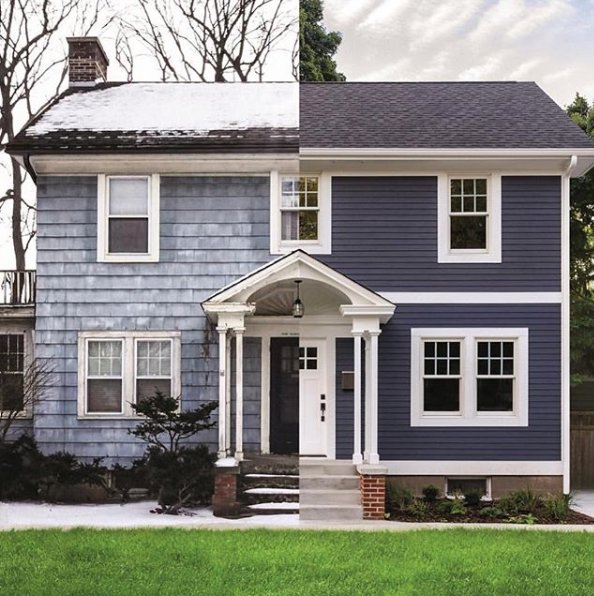 home siding before and after