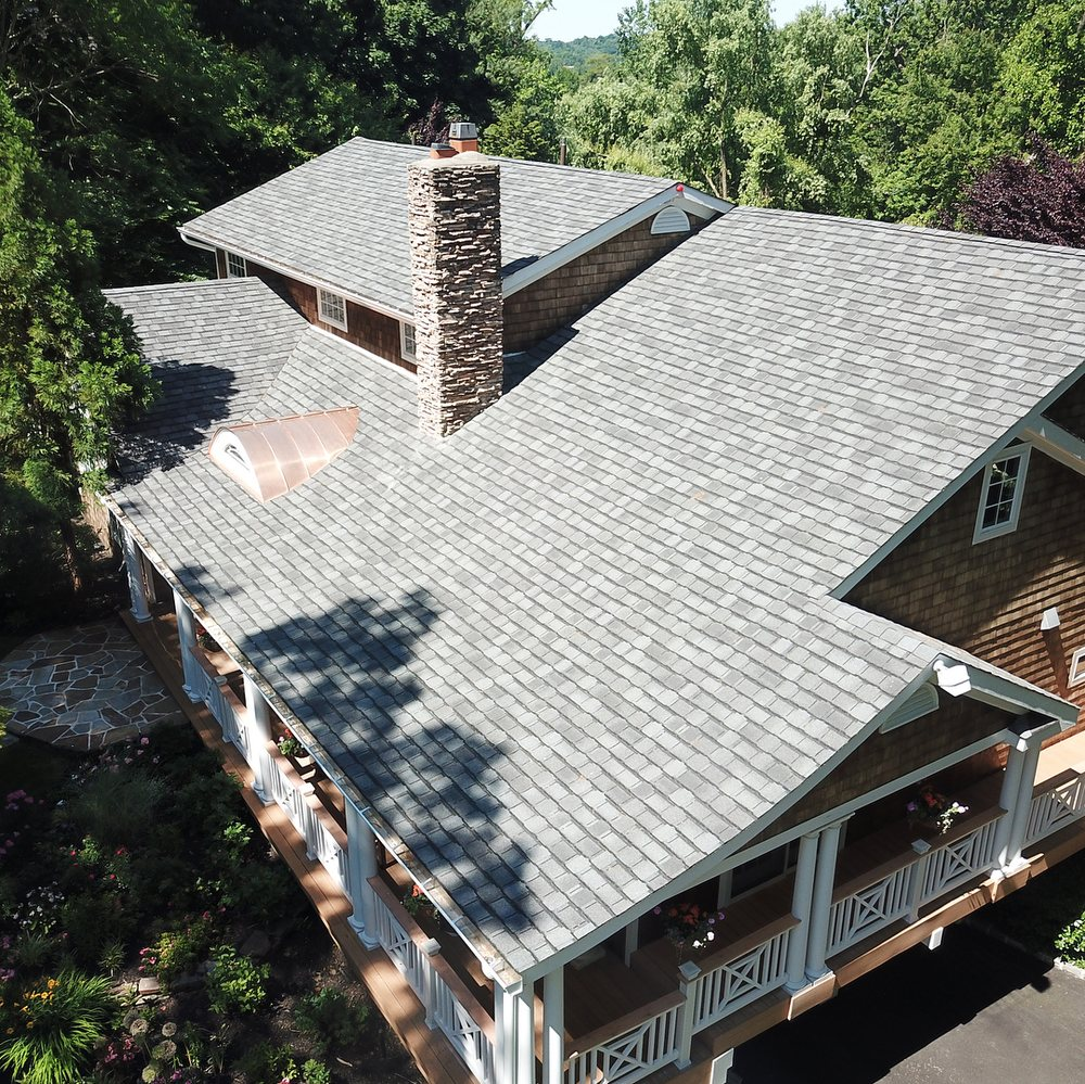 new gray roof