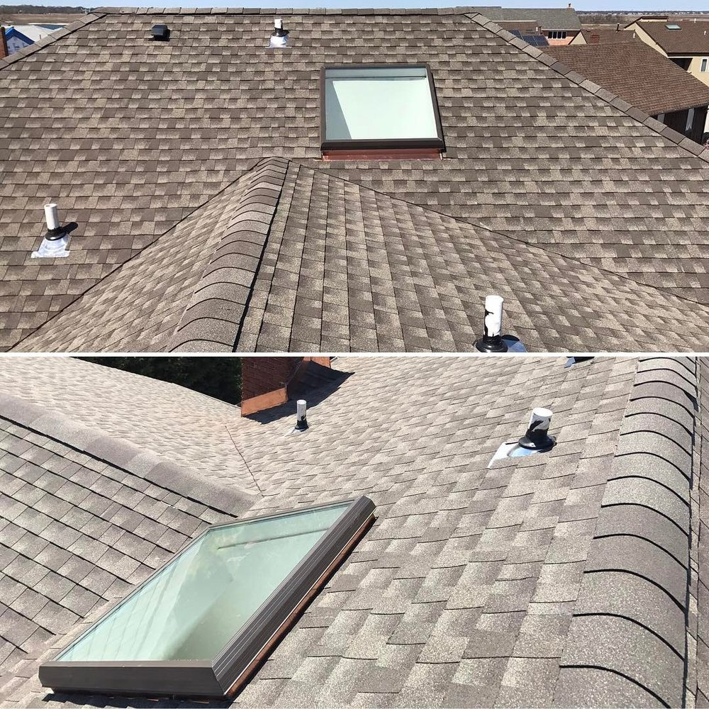 roof with skylight